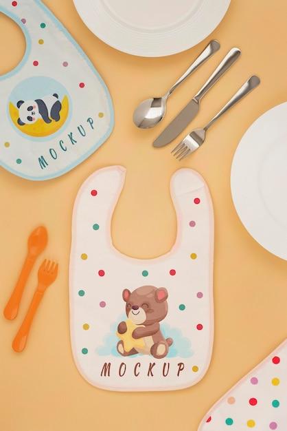 Расположение элементов для кормления ребенка Бесплатные Psd