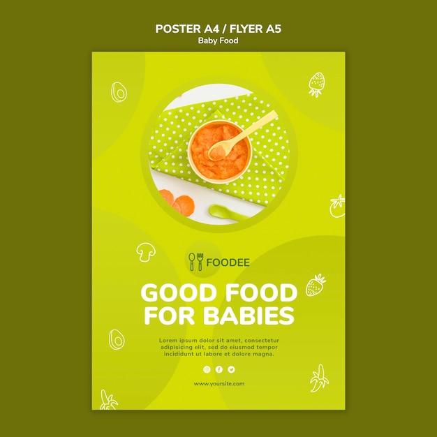 Дизайн флаера для детского питания Бесплатные Psd