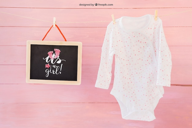 23cf5c96c Baby mockup with clothes peg PSD file