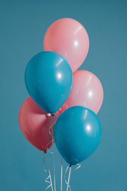 Детские розовые и голубые воздушные шары Бесплатные Psd