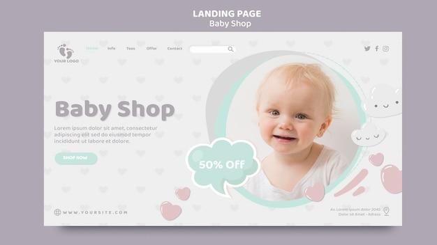 Modello di pagina di destinazione del negozio di bambini Psd Gratuite