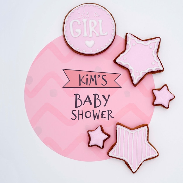 Baby shower decorations for girl Free Psd