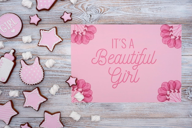 Baby shower decorations with gender reveal Free Psd