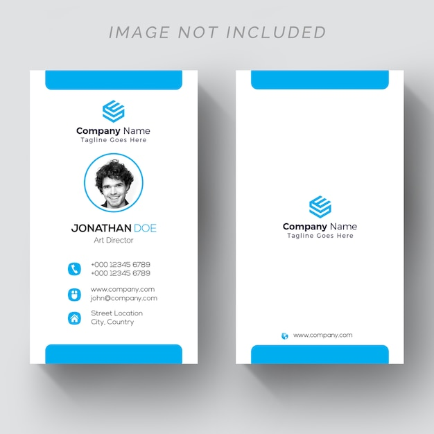 Back and front vertical business card psd file premium download back and front vertical business card premium psd reheart Images