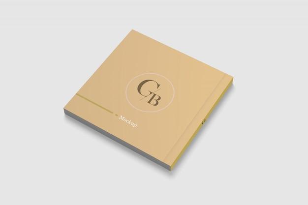 Задняя обложка квадратный журнал макет Premium Psd