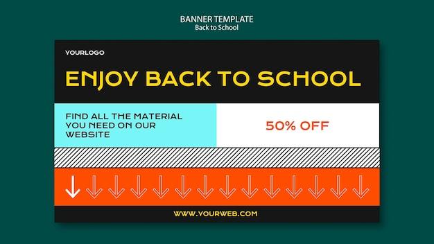 Torna al concetto di modello di banner di scuola Psd Gratuite