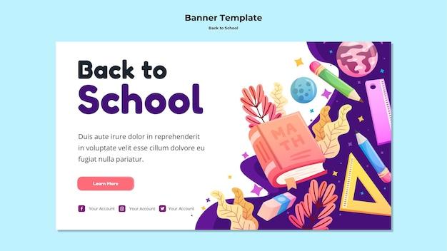 Torna al modello di banner della scuola Psd Gratuite