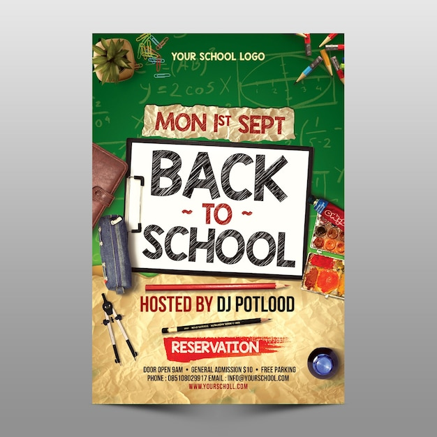 Back to school cover Premium Psd