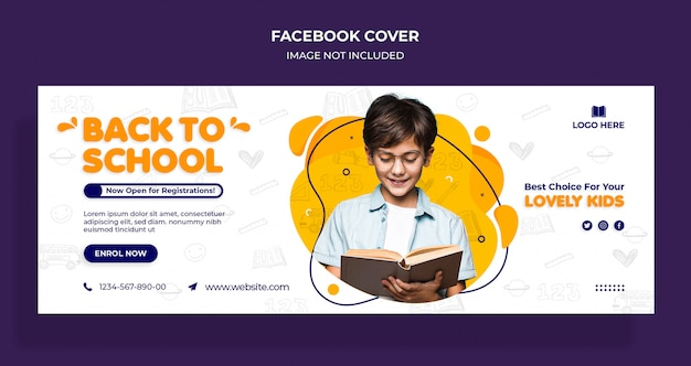 Back to school facebook timeline cover and web template Premium Psd