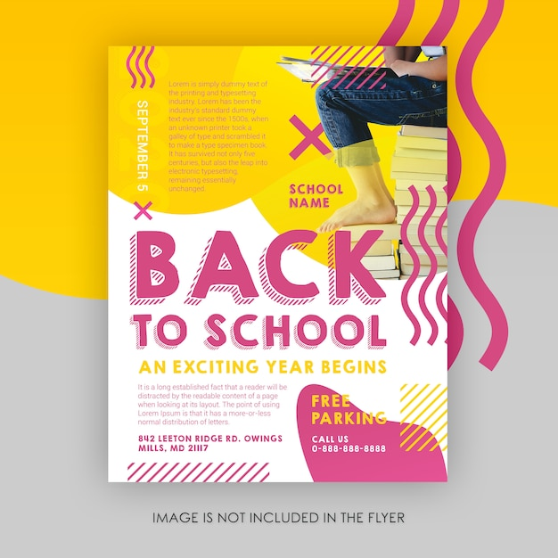 Back to school flyer template Premium Psd