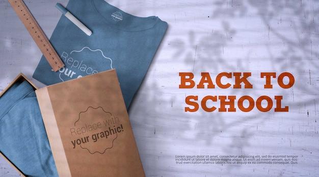 Back to school mockup with merchandise Premium Psd