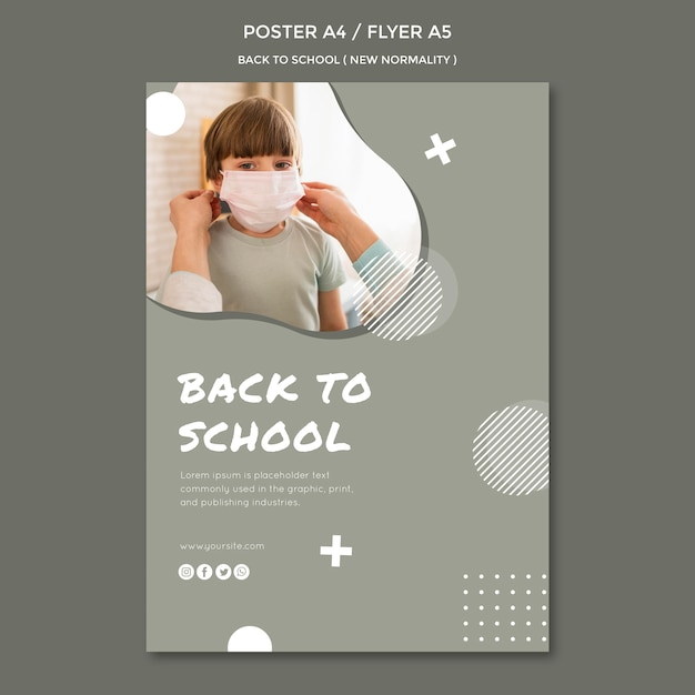 Back to school poster design Free Psd