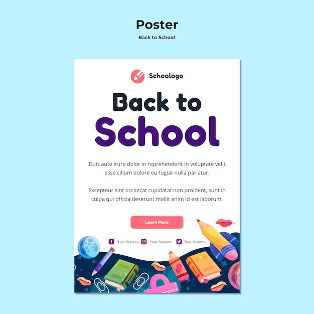 Torna al modello di poster di scuola Psd Gratuite