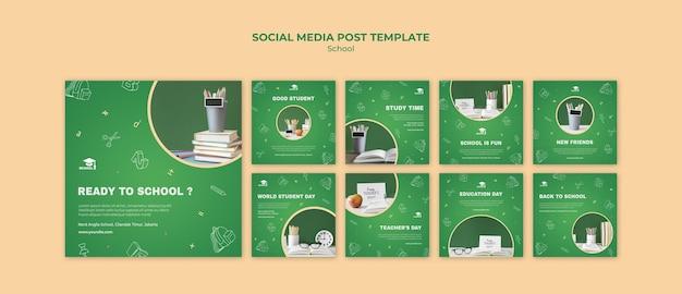 Back to school social media post template Premium Psd