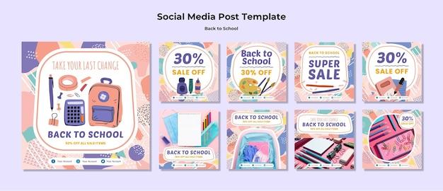 Back to school social media post Free Psd