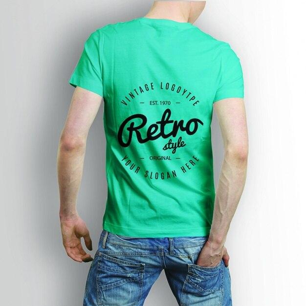 Back side shirt mock up psd file free download for Back of shirt mockup