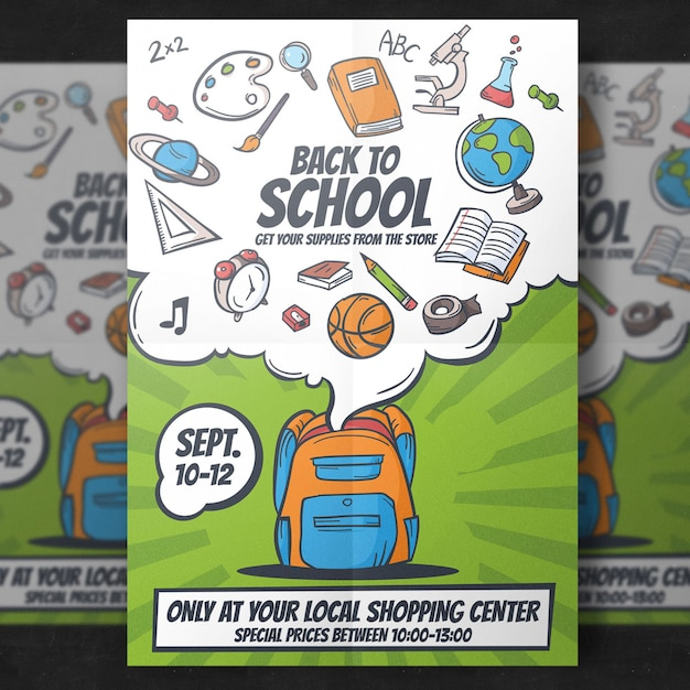 Back to school flyer template PSD file | Free Download