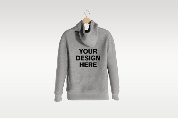 Back view hoodie mockup design isolated isolated Premium Psd