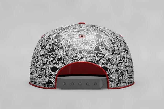 Backview baseball cap mockup Free Psd