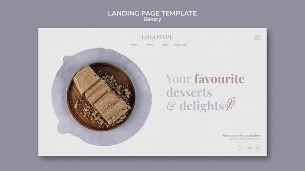 Modello di pagina di destinazione dell'annuncio di panetteria Psd Gratuite