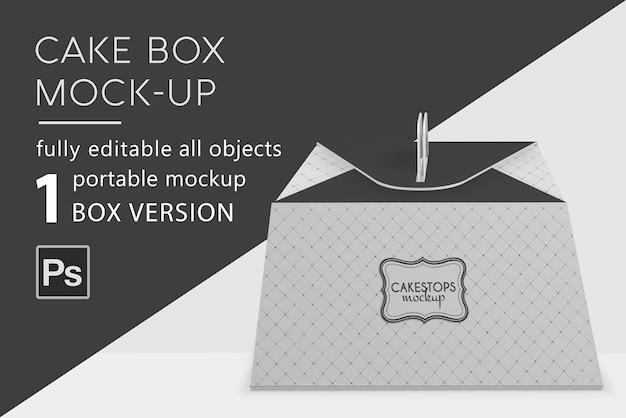 Мокап коробки для выпечки торта Premium Psd