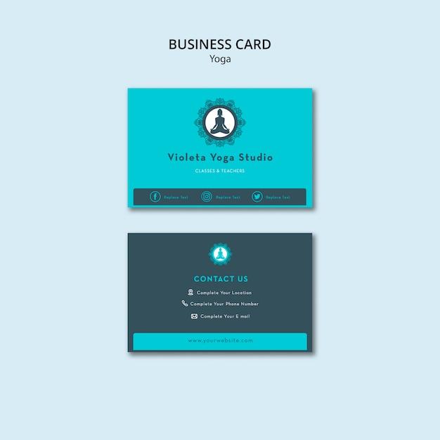 Balance your life yoga class business card template Free Psd