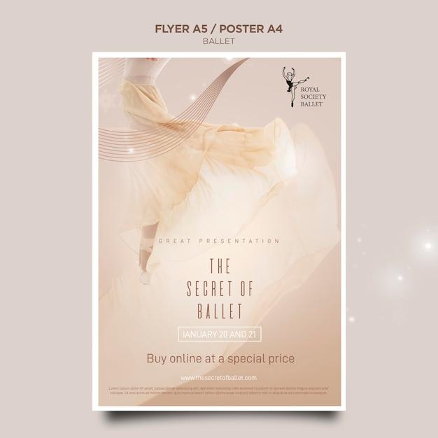 발레리나 컨셉 포스터 템플릿 무료 PSD 파일