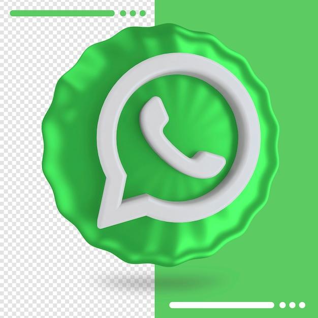 Воздушный шар и логотип whatsapp 3d rendering Premium Psd