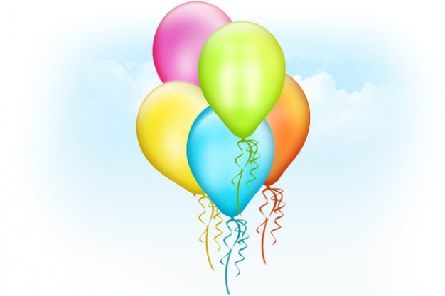 balloons psd template psd file free download