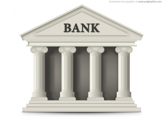 Bank building icon (PSD) Free Psd