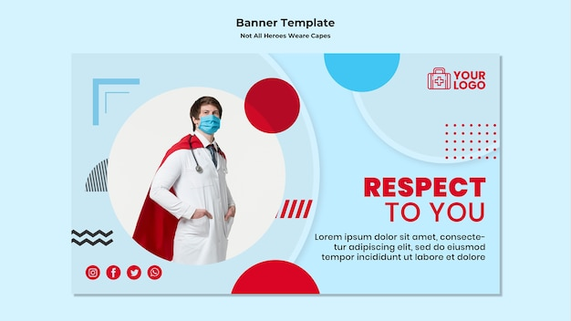 Banner not all heroes wear capes template Free Psd