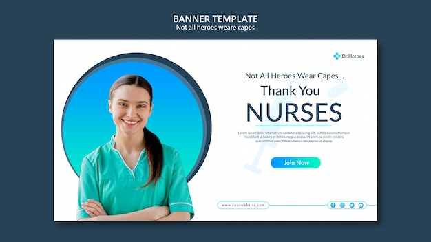 Banner not all heroes weare capes design Free Psd