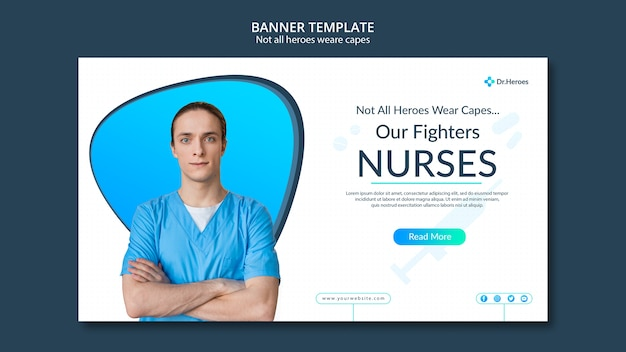 Banner not all heroes weare capes theme Free Psd
