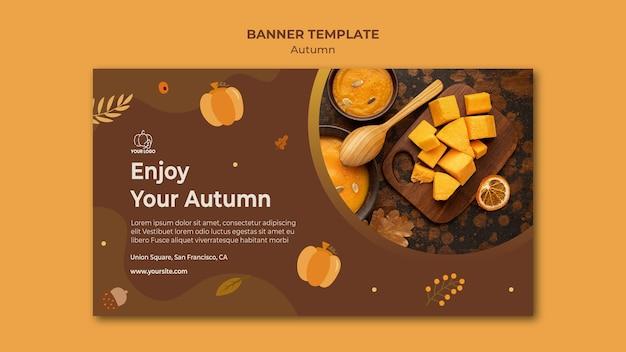 Banner modello di festa d'autunno Psd Gratuite