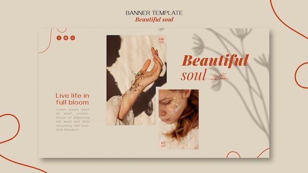 배너 아름다운 영혼 광고 템플릿 무료 PSD 파일