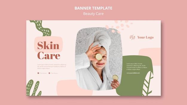 Modello di annuncio per la cura della bellezza banner Psd Gratuite