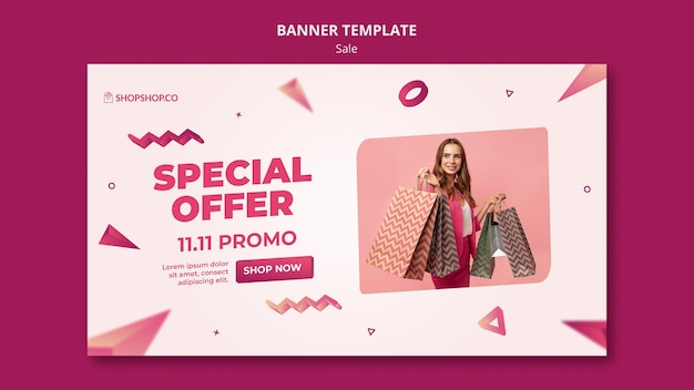 Banner black friday template Free Psd