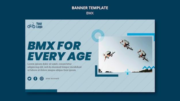 Banner bmx shop ad template Free Psd