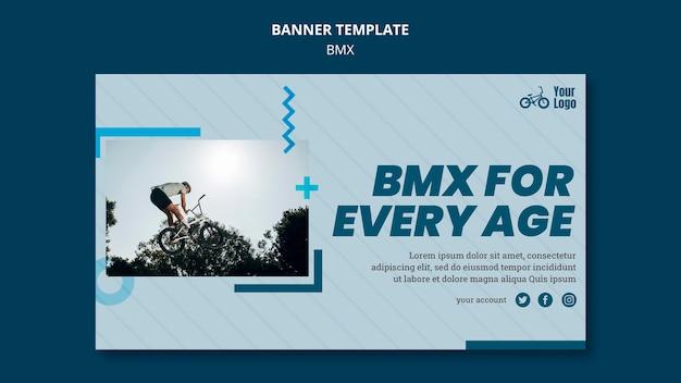 Banner bmx shop template Free Psd