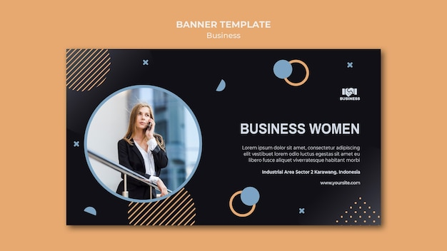 Banner business event template Free Psd