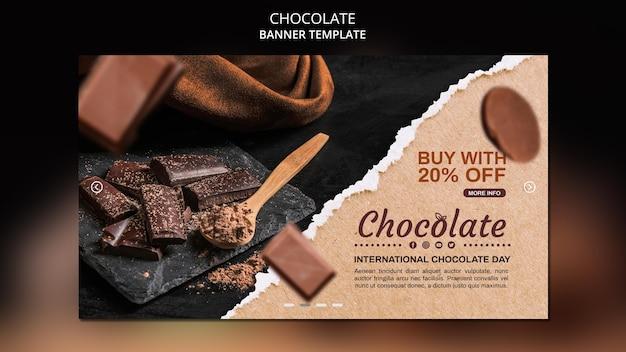 Баннер шаблон магазина шоколада Бесплатные Psd