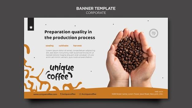 배너 커피 숍 템플릿 무료 PSD 파일