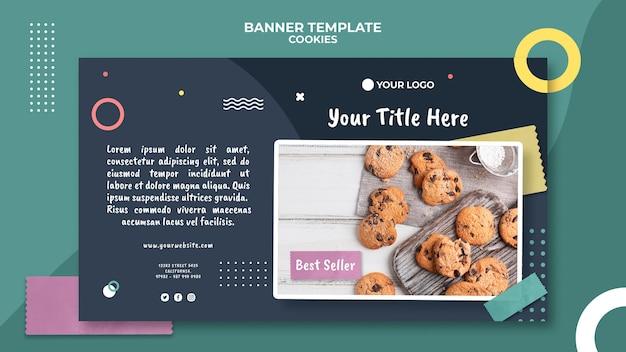 Modello di negozio di biscotti banner Psd Gratuite