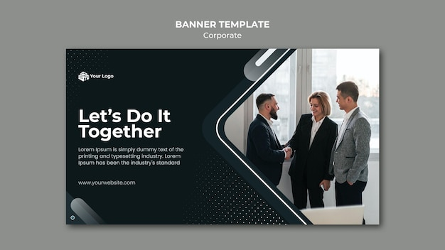 Banner corporate ad template Free Psd