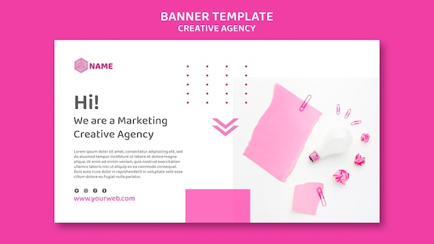 Banner creative agency template Free Psd
