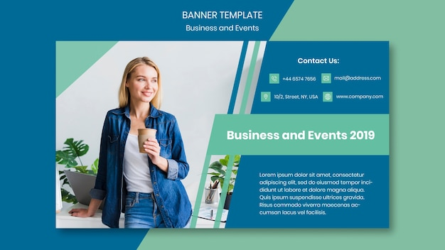 Banner design template for business event Free Psd