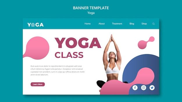 Banner Design Yoga Class Free Psd File