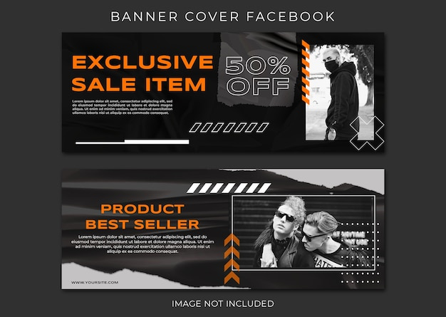 Banner facebook cover fashion sale template Premium Psd