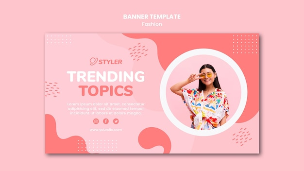 Banner fashion ad template Free Psd