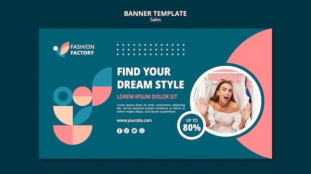 Modello di vendita di moda banner Psd Gratuite